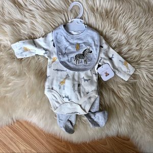 Baby animals outfit gender neutral